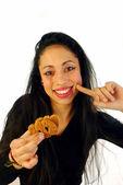 Spróbuj te ciasteczka — Zdjęcie stockowe