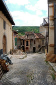 View of Assergi after the earthquake - Abruzzo - Italy — Stock Photo