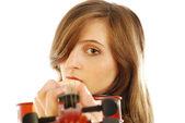 žena s housle 008 — Stock fotografie