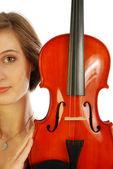 Donna con violino 012 — Foto Stock