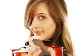 Woman with violin 015 — Stock Photo