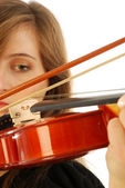 Woman with violin 017 — Stock Photo