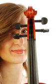 Frau mit Geige 023 — Stockfoto