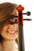 Kobieta z skrzypce 024 — Zdjęcie stockowe
