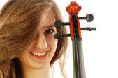 Kobieta z skrzypce 026 — Zdjęcie stockowe