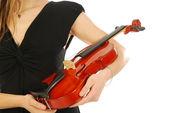 Frau mit Geige 029 — Stockfoto