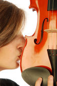 Woman with violin 032 — Stock Photo