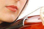 Woman with violin 040 — Stock Photo