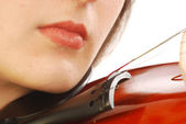 Woman with violin 041 — Stock Photo