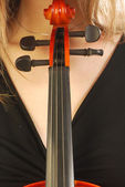 Vrouw met viool 049 — Stockfoto