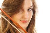 Женщина с скрипки 051 — Стоковое фото