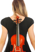 Woman with violin 057 — Stock Photo
