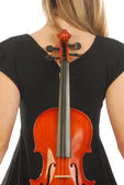 Woman with violin 058 — Stock Photo