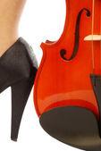 妇女和乐器 008 — 图库照片