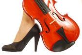 女性と楽器 009 — ストック写真