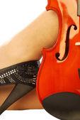 ženy a hudební nástroj 013 — Stock fotografie