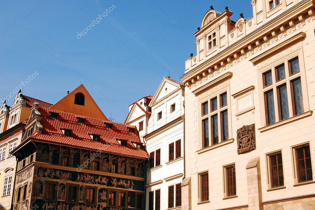 Houses and buildings of the historic center of Prague — Stock Photo #6747722