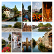 The beautiful city of Strasbourg  - Alsace - France - Stock Photo