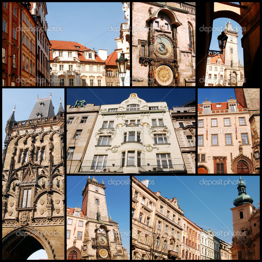The different architectural styles in Prague — Stock Photo #6750694