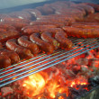 Stock Photo: Grilled sausages for all