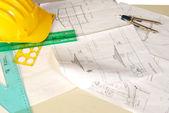 Konstrukce domu — Stock fotografie