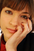 Portrait of pensive woman — Stock Photo