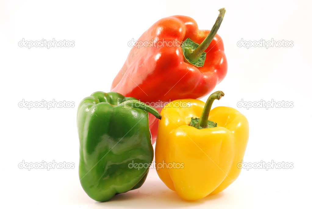Yellow peppers, red and green — Stock Photo #6826147