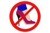 Ban high heels — Stock Photo