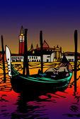 Góndola en san marco - venecia — Foto de Stock