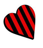 Sporting heart (red and black) — Foto de Stock