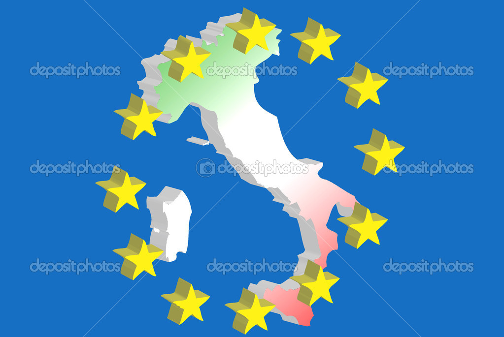 Symbol of Italy in the European community — Stock Photo #6831157