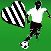 I love the White and Black football club — Stock Photo
