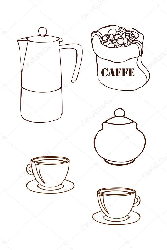The cycle of production of coffee — Stock Photo #6858963