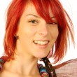Stock Photo: Red hair smiling