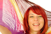 Happiness is to have red hair — Stock Photo