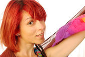Red hair — Stock Photo
