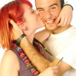 Love has red hair — Stock Photo