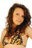 Beautiful young girl exuberant (001) — Foto Stock