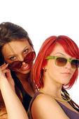 Przyjaciele dwie kobiety — Zdjęcie stockowe