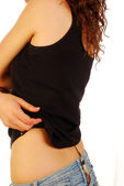Woman undressing (002) — Stock Photo