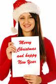 メリー クリスマスと新年あけましておめでとうございます 2 — ストック写真
