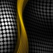 Stock Photo: Gold and black abstract background