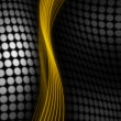 Stockfoto: Gold and black abstract background