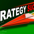 Paper airplane strategy success solutions - Foto de Stock  