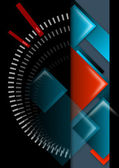 Geometric abstract background black, red and blue — Stock Photo