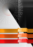Geometric abstract background black red and orange — Stock Photo