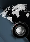Time global business background — Stock Photo