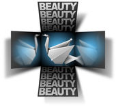 Cube beauty swan — Stock Photo