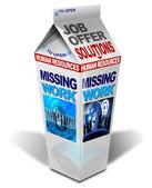 Milk missing work — Stock Photo