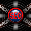 Seo search red arrows - Search engine optimization web — Foto Stock